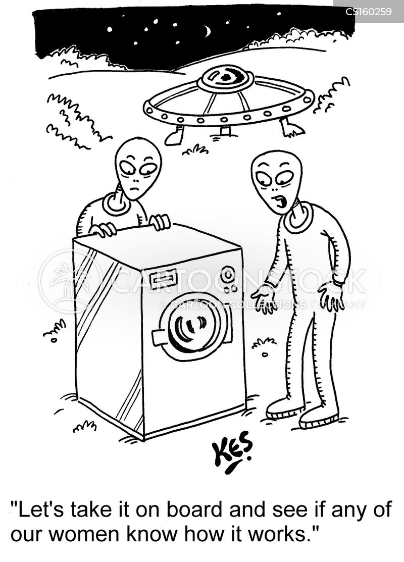 clothes washers cartoon