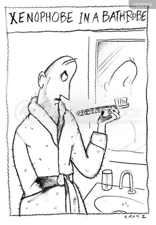 bathrobes cartoon
