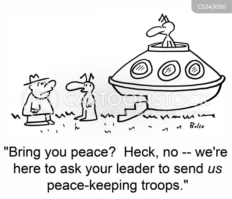 peace keeping cartoon
