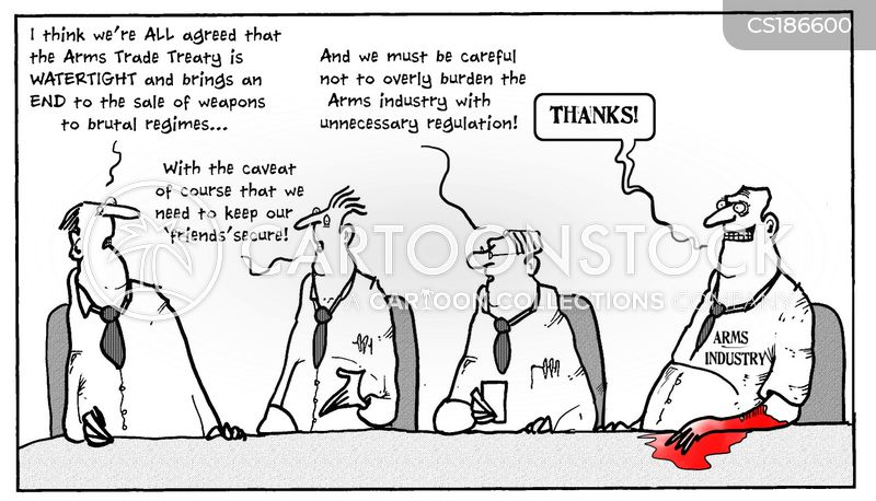 arms trade cartoon