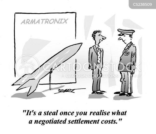 arms deal cartoon