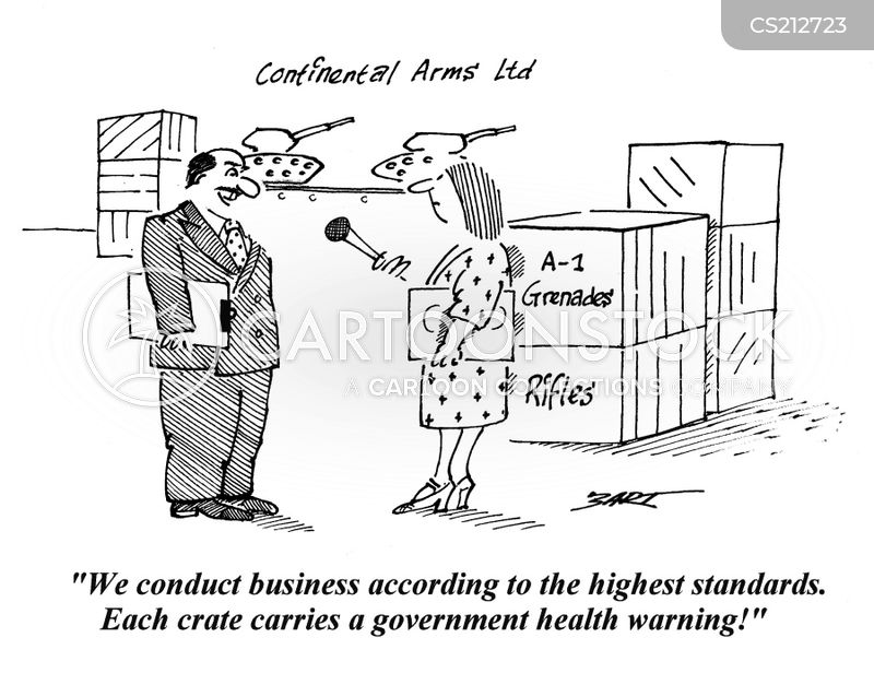 arms dealers cartoon