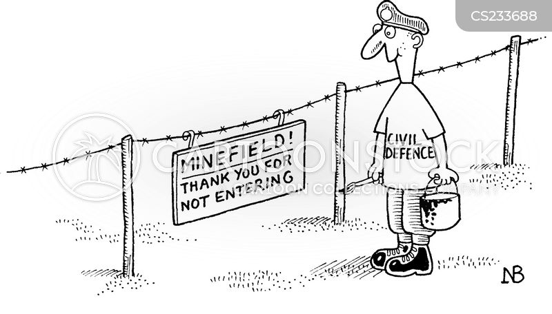 Minefield cartoons, Minefield cartoon, funny, Minefield picture, Minefield pictures, Minefield image, Minefield images, Minefield illustration, Minefield illustrations