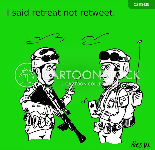 retreating cartoon
