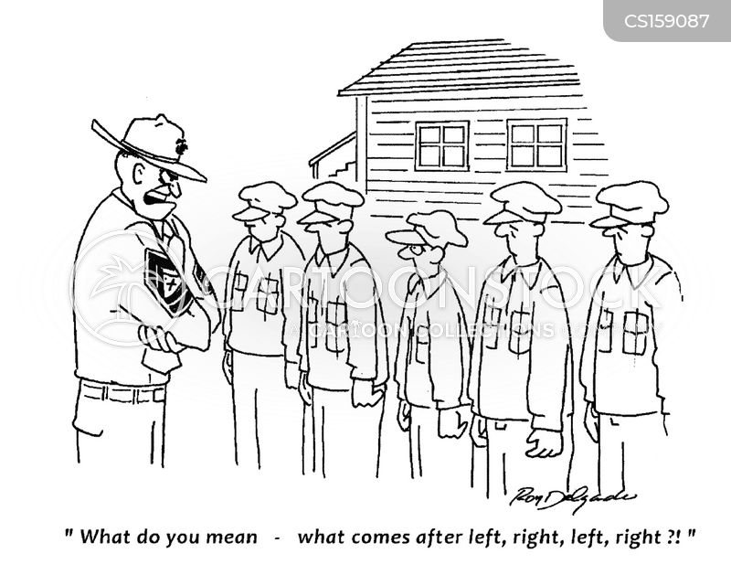 military recruit cartoon