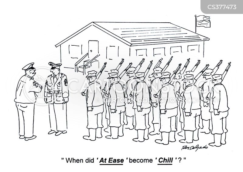 military discipline cartoon