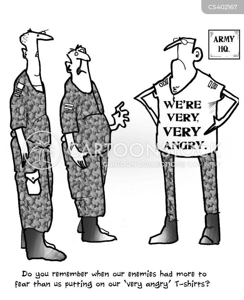 army redundancy cartoon