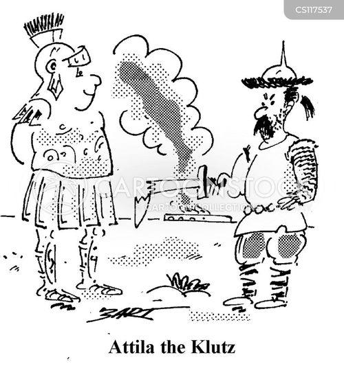 attila the hun cartoon