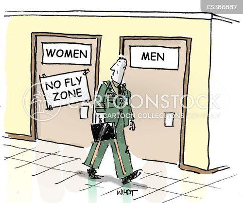 female toilets cartoon