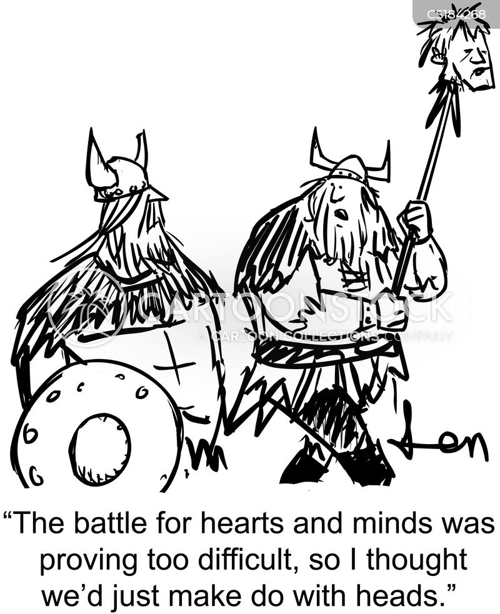 viking battle cartoon