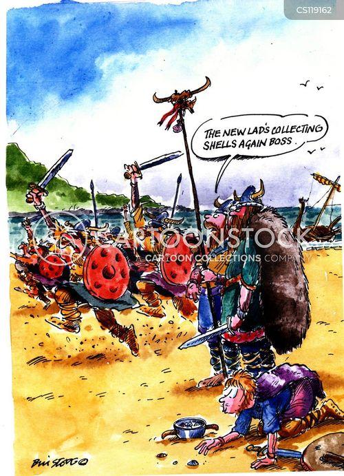 landed cartoon