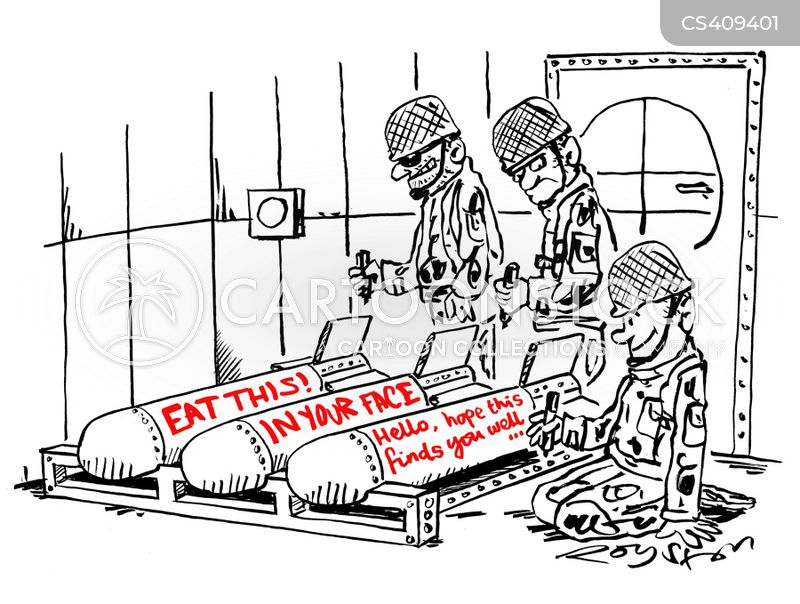 military operation cartoon
