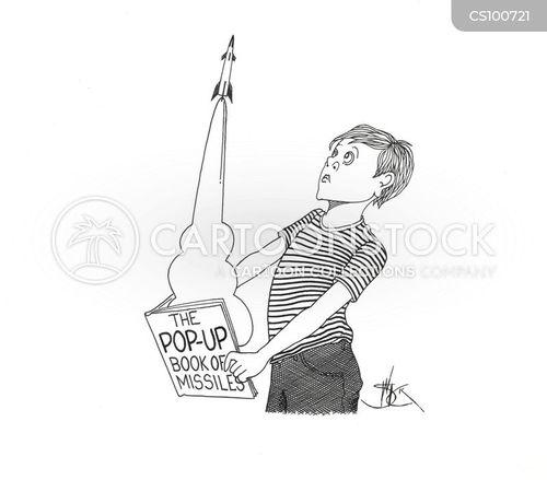pop-up books cartoon