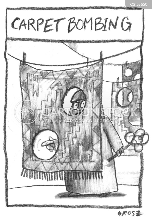 carpet bombing cartoon