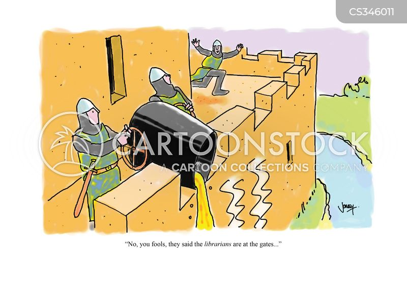 castle gates cartoon