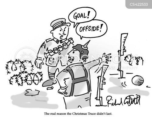 christmas truce cartoon
