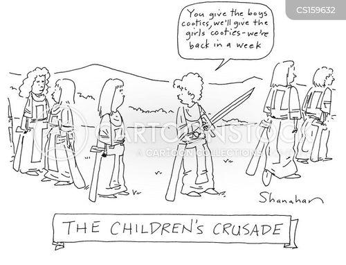 crusading cartoon