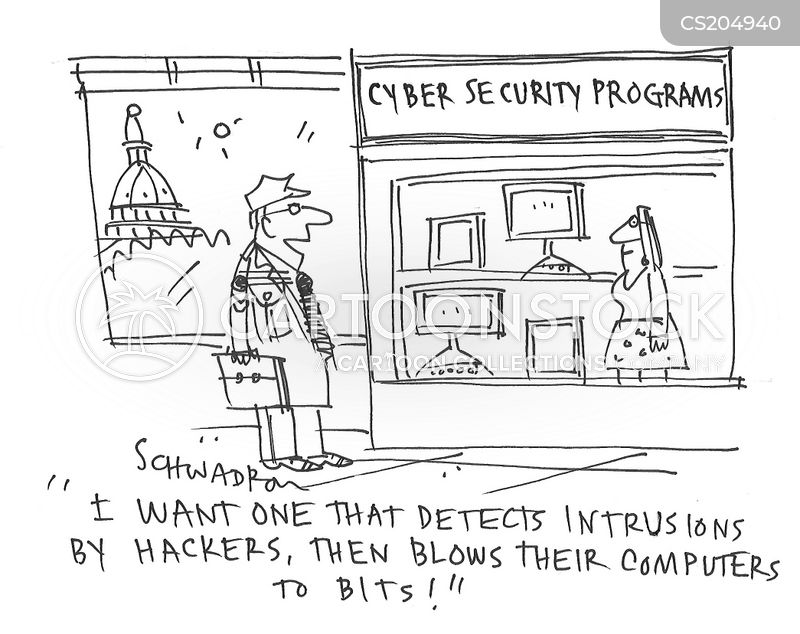 cybersecurity cartoon