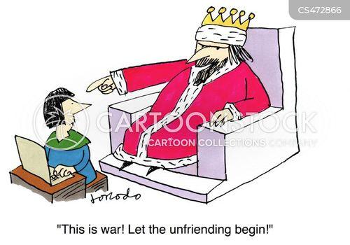 unfriended cartoon