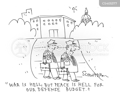 defense budgets cartoon