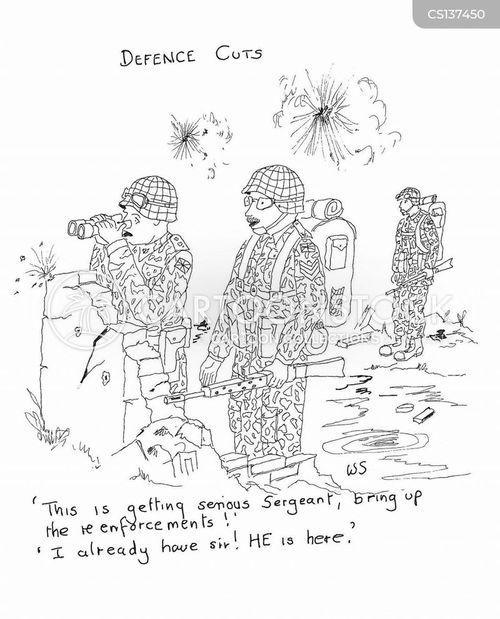 defence cut cartoon