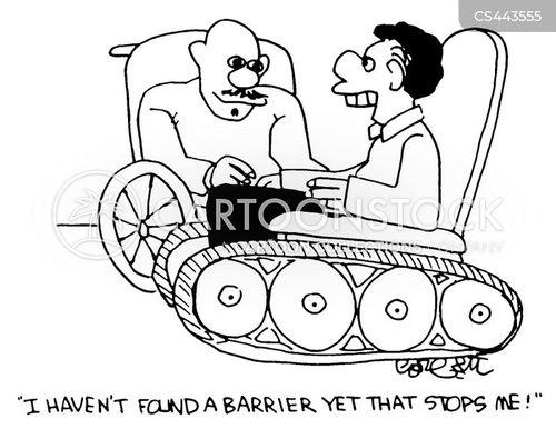 wheel-chairs cartoon