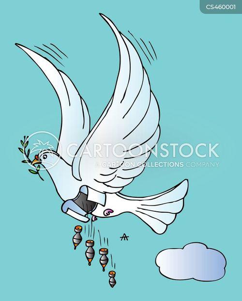 peace symbols cartoon