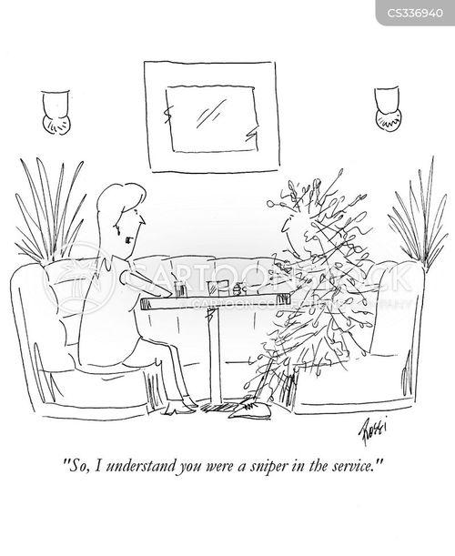 sniping cartoon