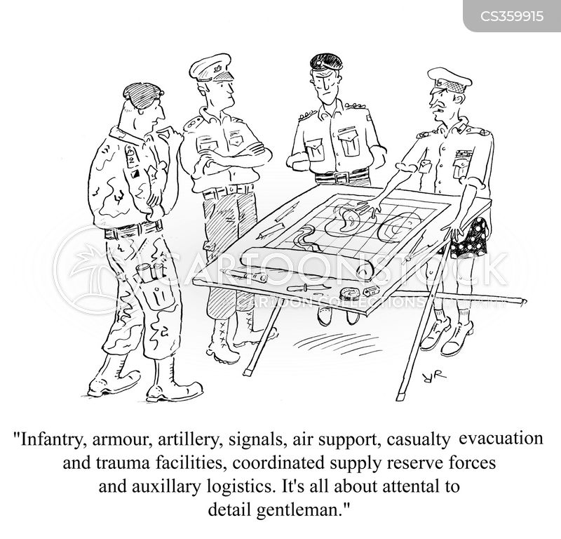 military forces cartoon