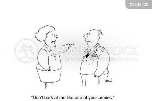 army officers cartoon