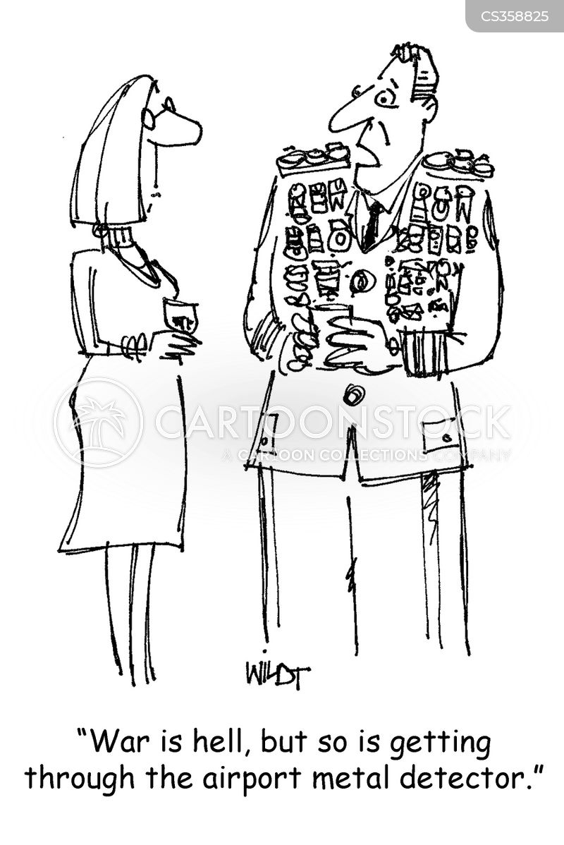 decorated soldiers cartoon