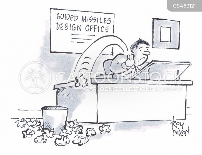 guided missile cartoon