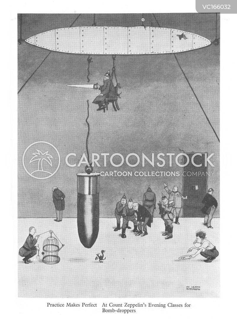 Zeppelin Vintage and Historic Cartoons