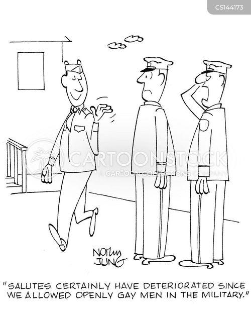 military men cartoon