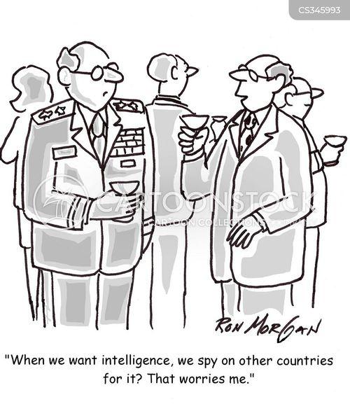 intelligence officer cartoon