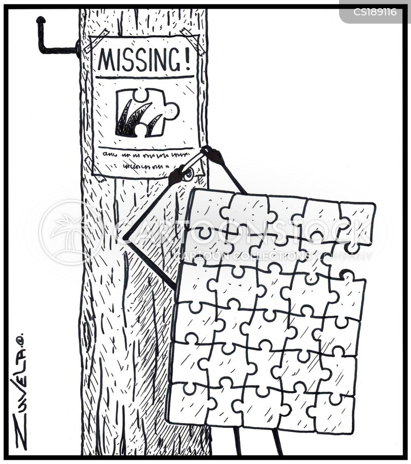 MISSING! / A Jigsaw Puzzle Sticking Up A Flyer To A Pole Regarding His  Missing Piece  Missing Person Flyer