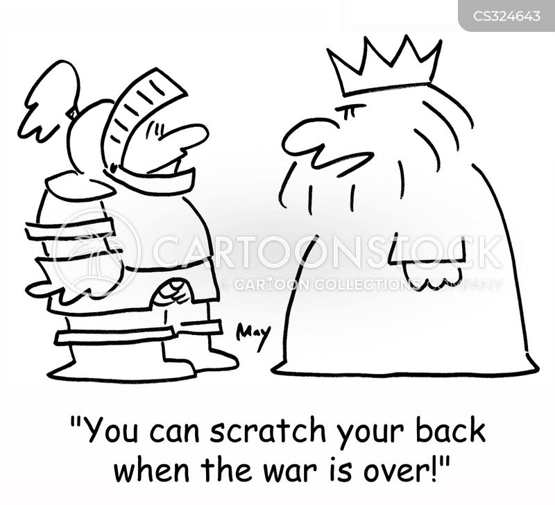 scratching backs cartoon