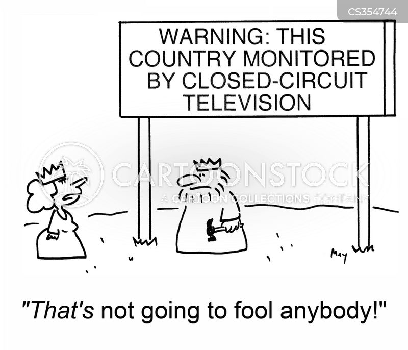 closed circuit tv cartoons and comics
