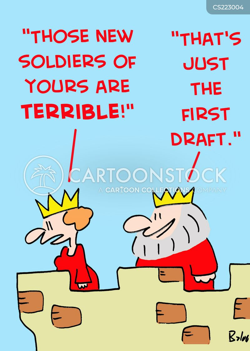 first draft cartoon