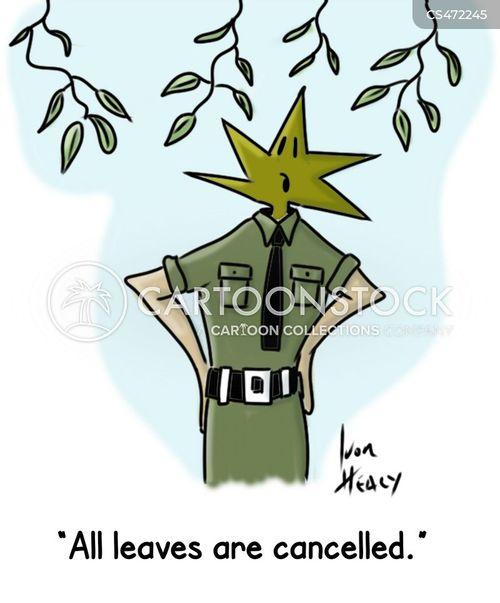 annual leaves cartoon