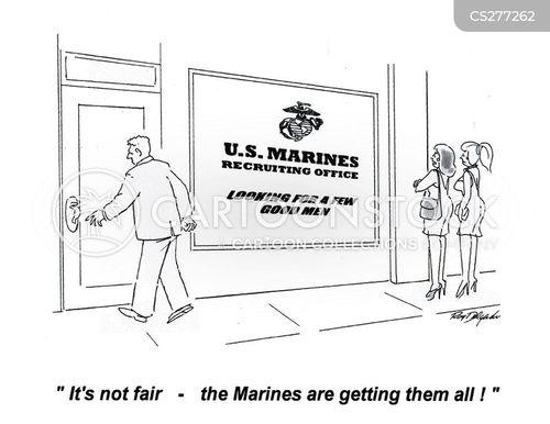 recruiting stations cartoon
