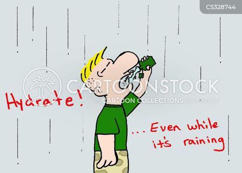 hydrated cartoon