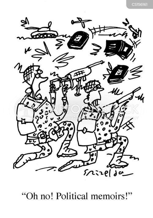 political memoirs cartoon
