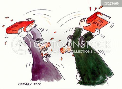 holy war cartoon