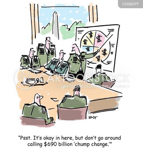 army budget cartoon