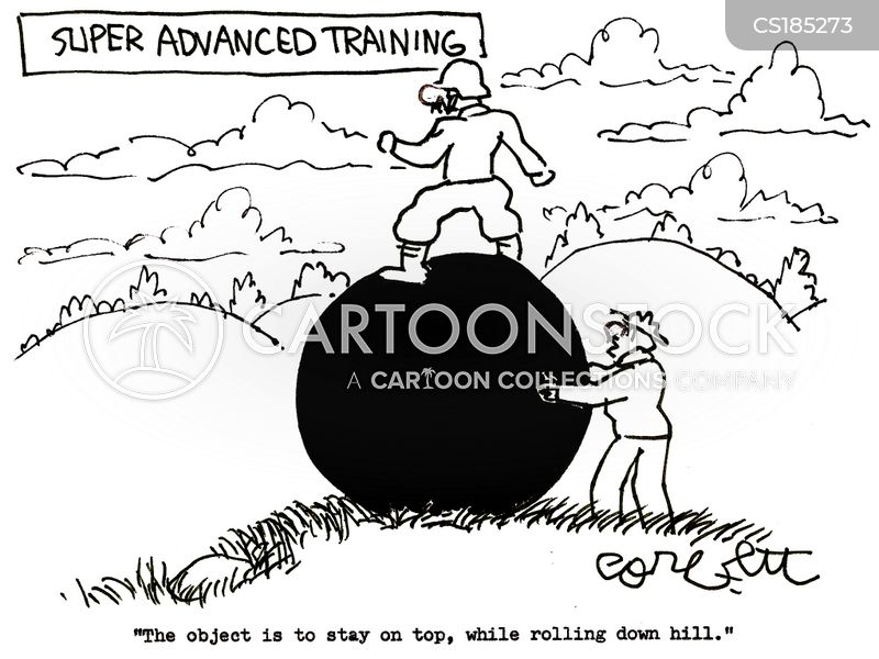 obstacle courses cartoon