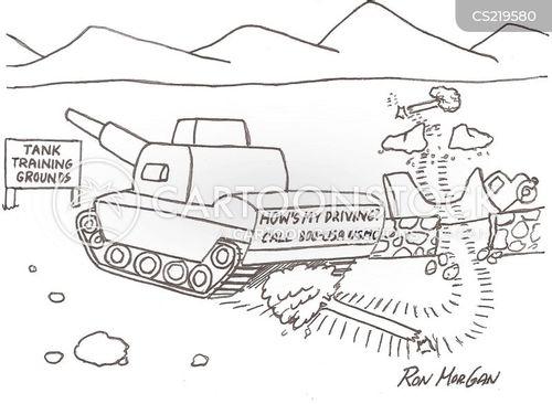 tank driver cartoon