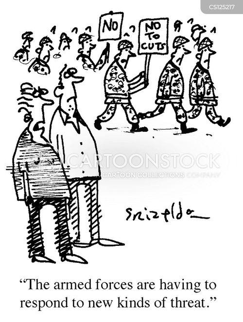 defence budgets cartoon