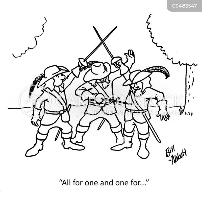 three musketeers cartoon