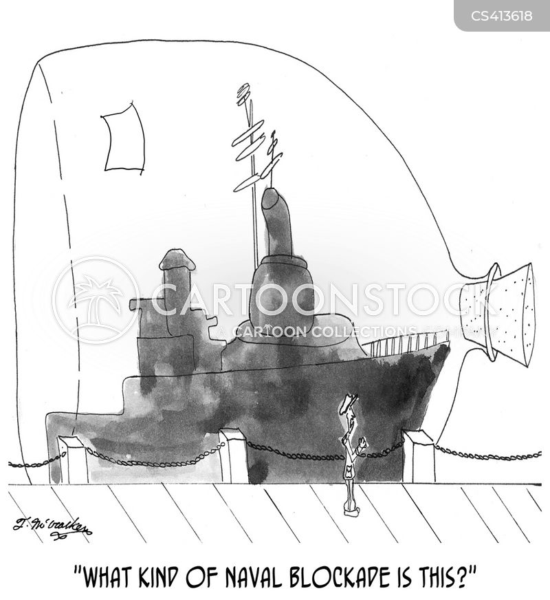 naval blockade cartoon